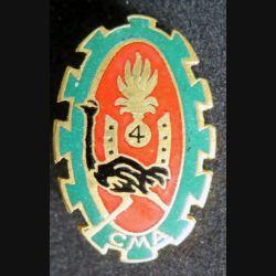 4° REI : Compagnie montée auto CMA du 4° régiment étranger d'infanterie Drago Paris émail retirage non marqué