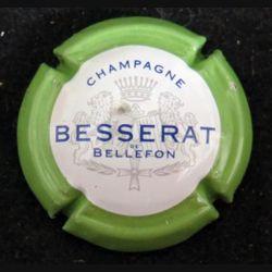 Capsule Muselet de bouteille de champagne Besserat Bellefon vert pâle (L4)
