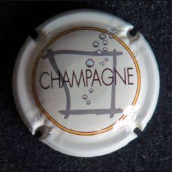 Capsule Muselet de bouteille de champagne Sébastien Beaufort blanc (L4)