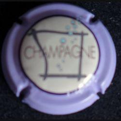 Capsule Muselet de bouteille de champagne Sébastien Beaufort violet (L4)
