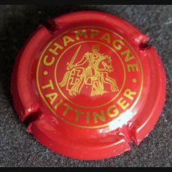 Capsule Muselet de bouteille de champagne Taittinger rouge et or (L4)