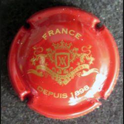 Capsule Muselet de bouteille de champagne Veuve Ambal rouge et or (L5)