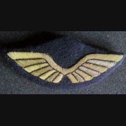 AIR : Insigne tissu de casquette d'officier de l'armée de l'air en cannetille