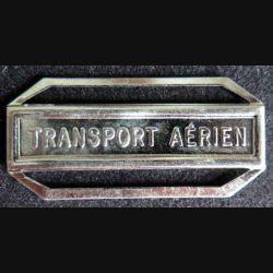 """Barrette """" TRANSPORT AÉRIEN """" en métal argenté"""