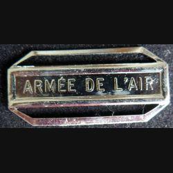 """Barrette """" ARMÉE DE L'AIR """" en métal argenté"""