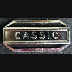 """Barrette """" CASSIC """" en métal argenté"""