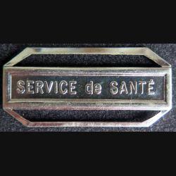 """Barrette """" SERVICE DE SANTÉ """" en métal argenté"""