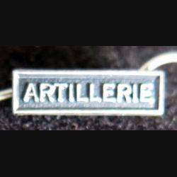 """Barrette miniature """" ARTILLERIE """" en métal argenté"""