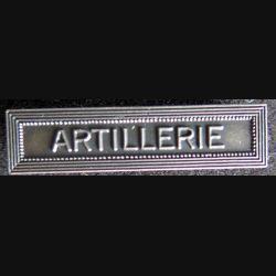 """Barrette """" ARTILLERIE """" en métal argenté"""
