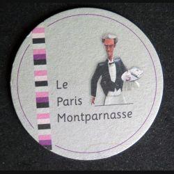 DESSOUS DE VERRE A BIÈRE : Le Paris Montparnasse de largeur 9,4 cm
