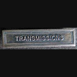 """Barrette """" TRANSMISSIONS """" en métal argenté"""