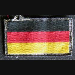 insigne tissu du drapeau  pour uniformes allemands de la Bundeswher